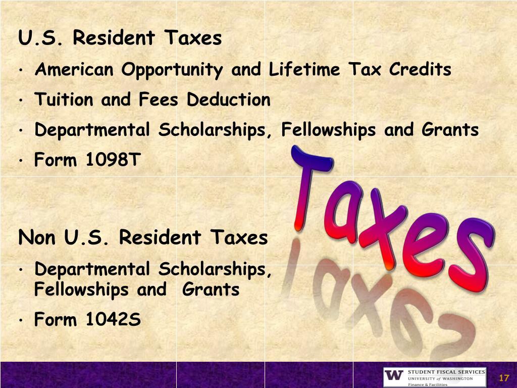 U.S. Resident Taxes