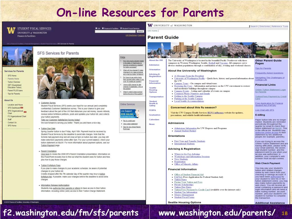 On-line Resources for Parents
