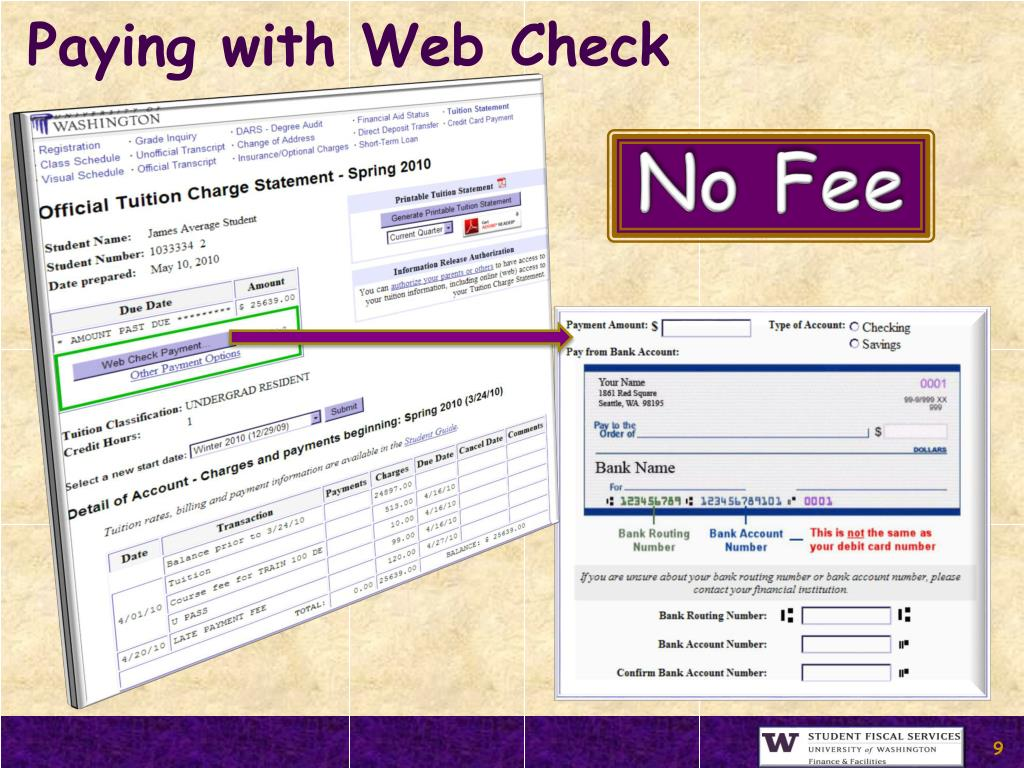 Paying with Web Check