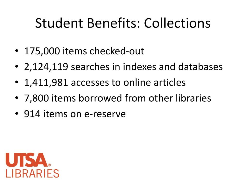 Student Benefits: Collections