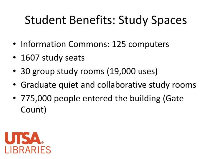 Student benefits study spaces