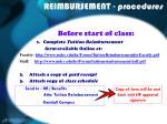 reimbursement procedures