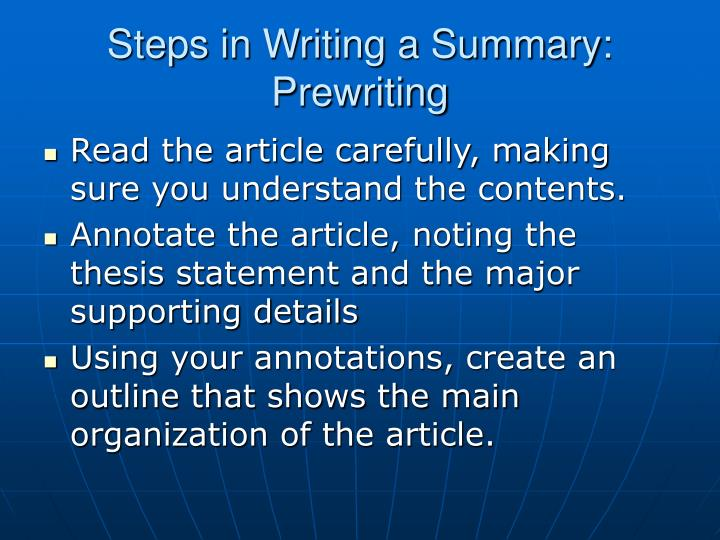 steps in the prewriting phase of essay writing