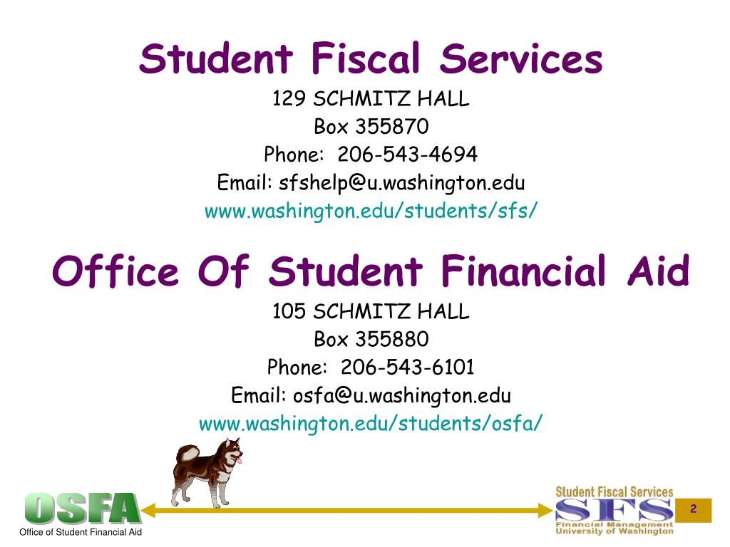 Student Fiscal Services