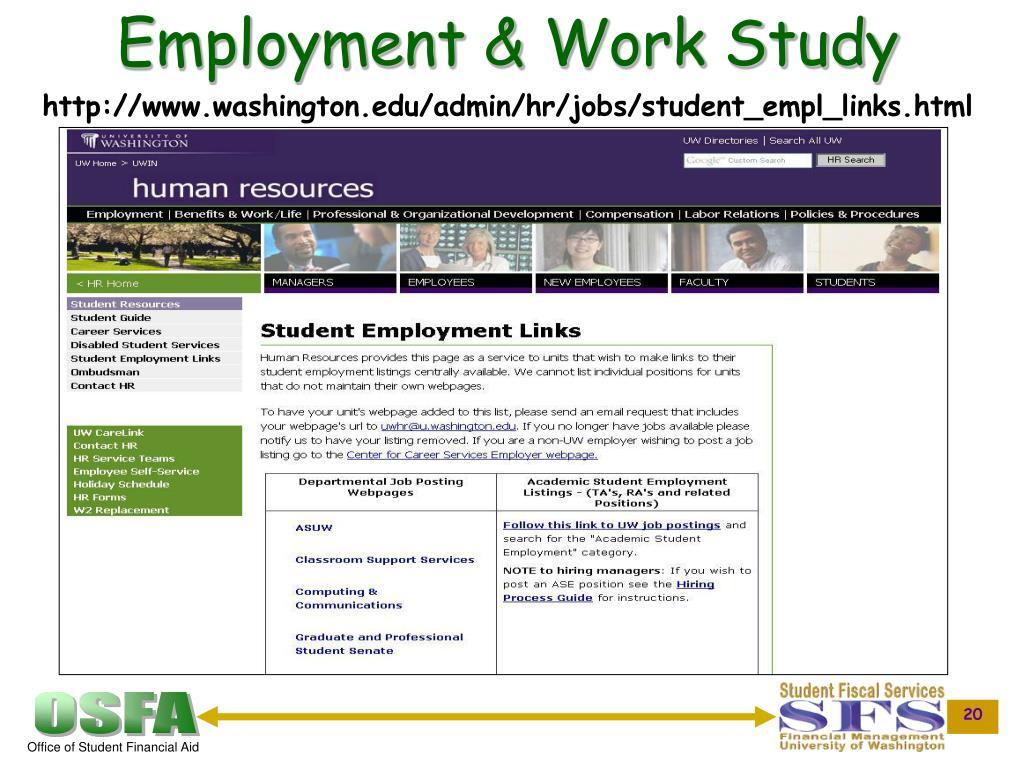 Employment & Work Study