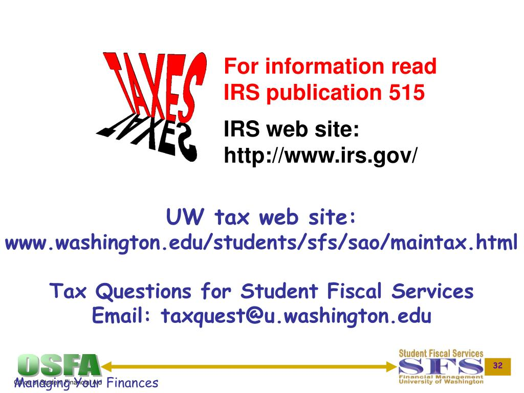 For information read IRS publication 515