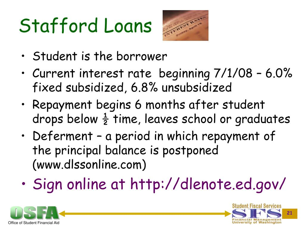 Stafford Loans