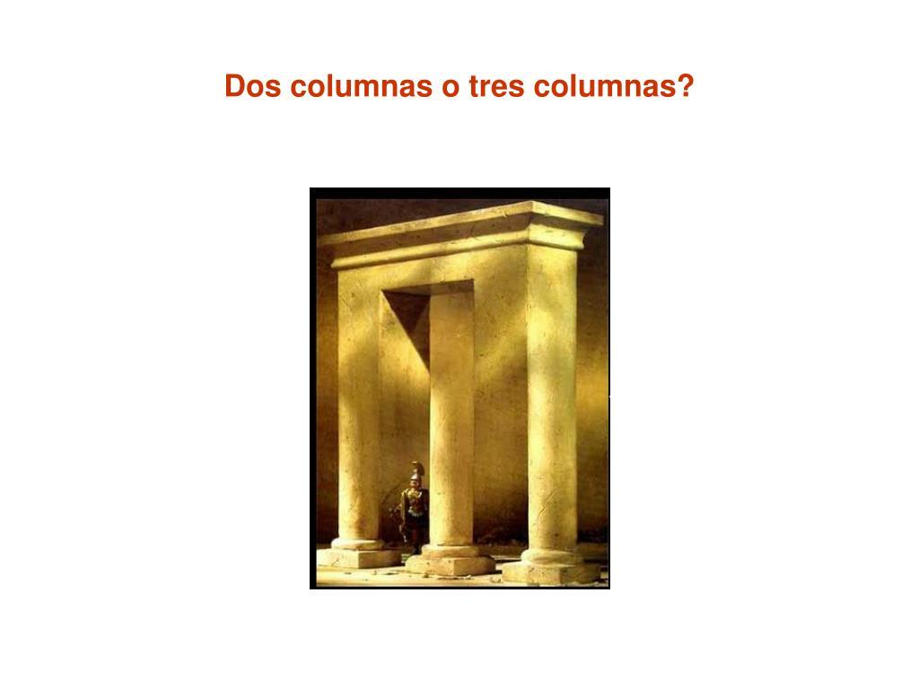 Dos columnas o tres columnas?