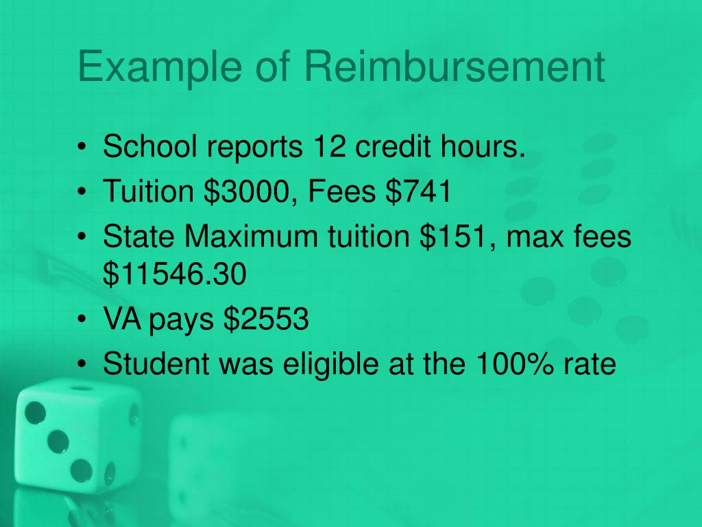 Example of Reimbursement