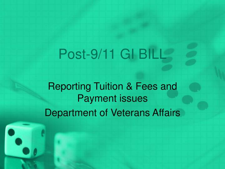 Post 9 11 gi bill