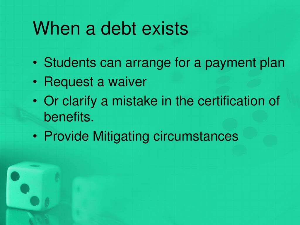 When a debt exists