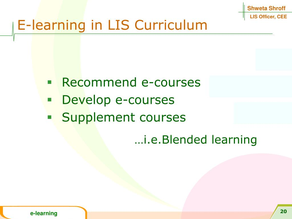 E-learning in LIS Curriculum