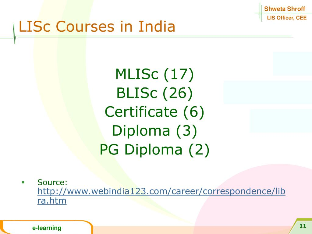 LISc Courses in India