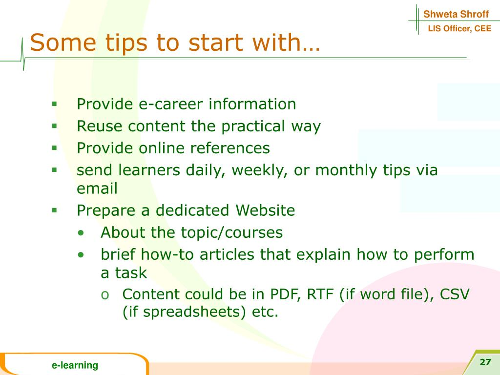 Some tips to start with…