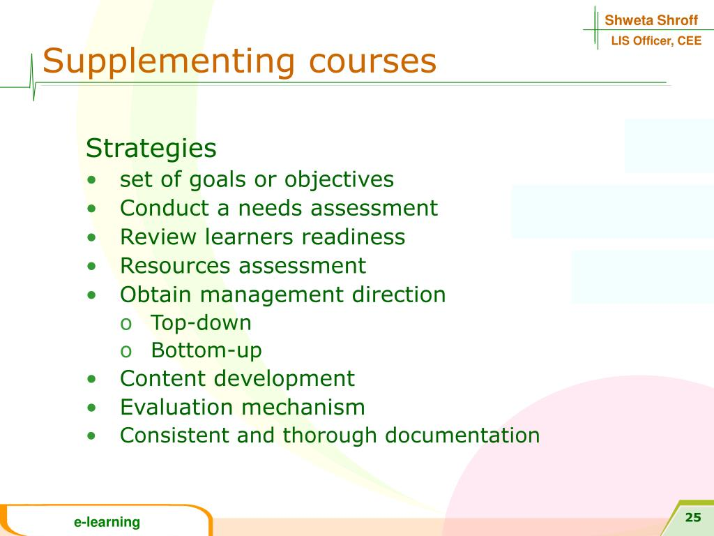 Supplementing courses