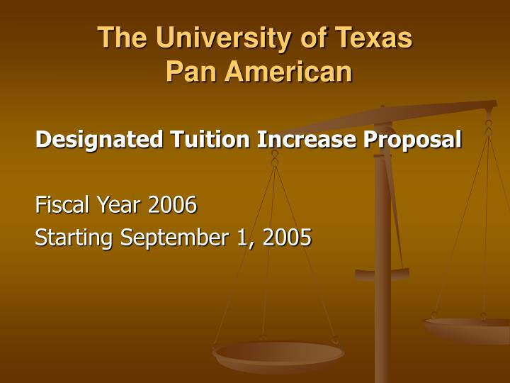 The university of texas pan american