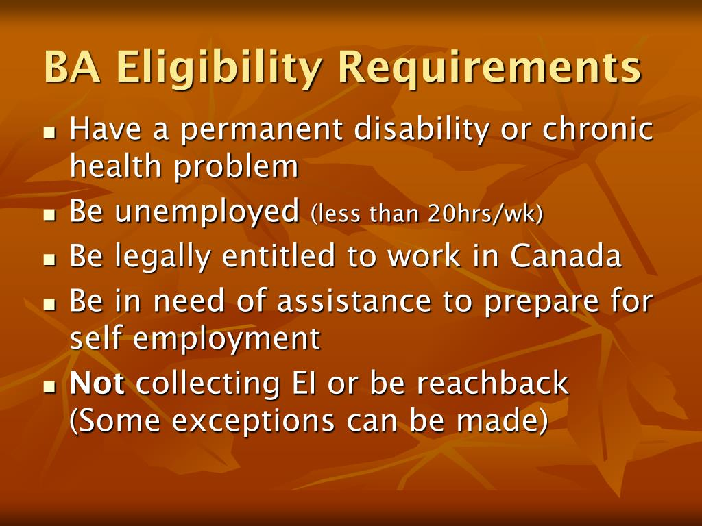 BA Eligibility Requirements