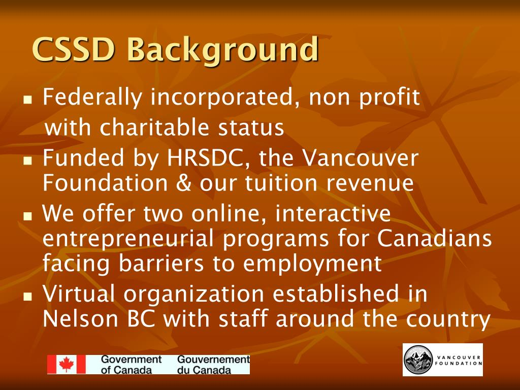 CSSD Background