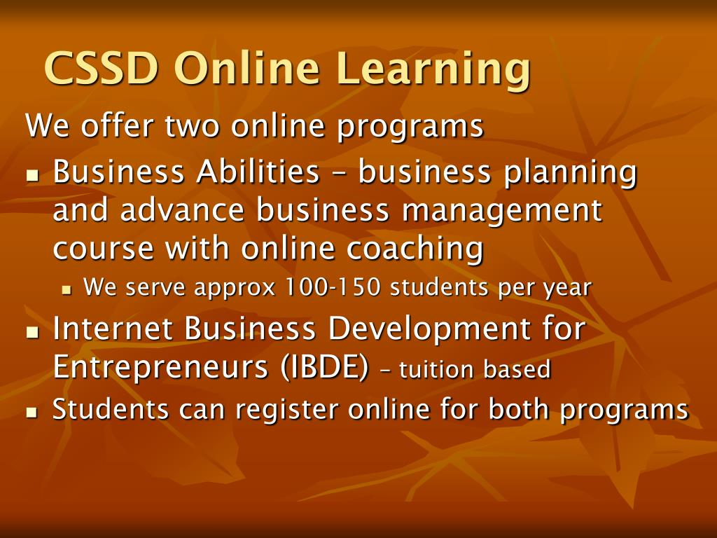 CSSD Online Learning