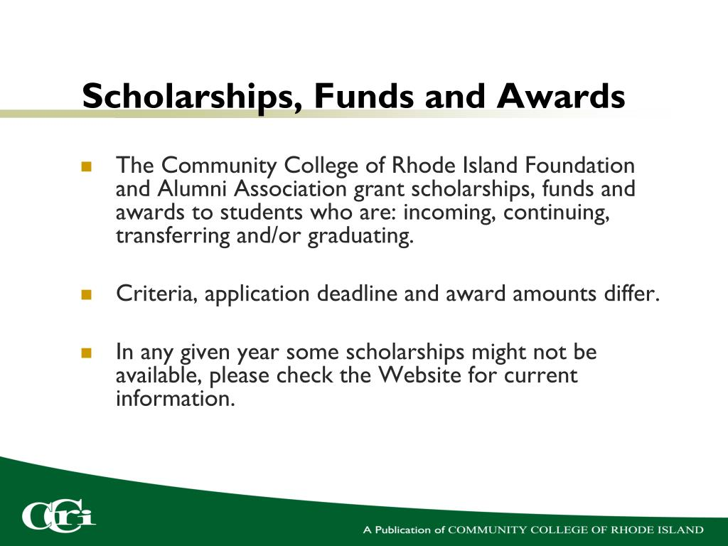 Scholarships, Funds and Awards