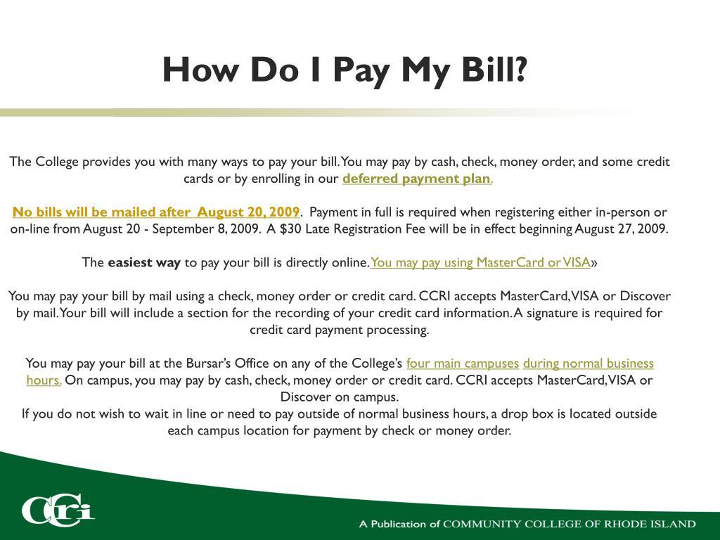 How Do I Pay My Bill?