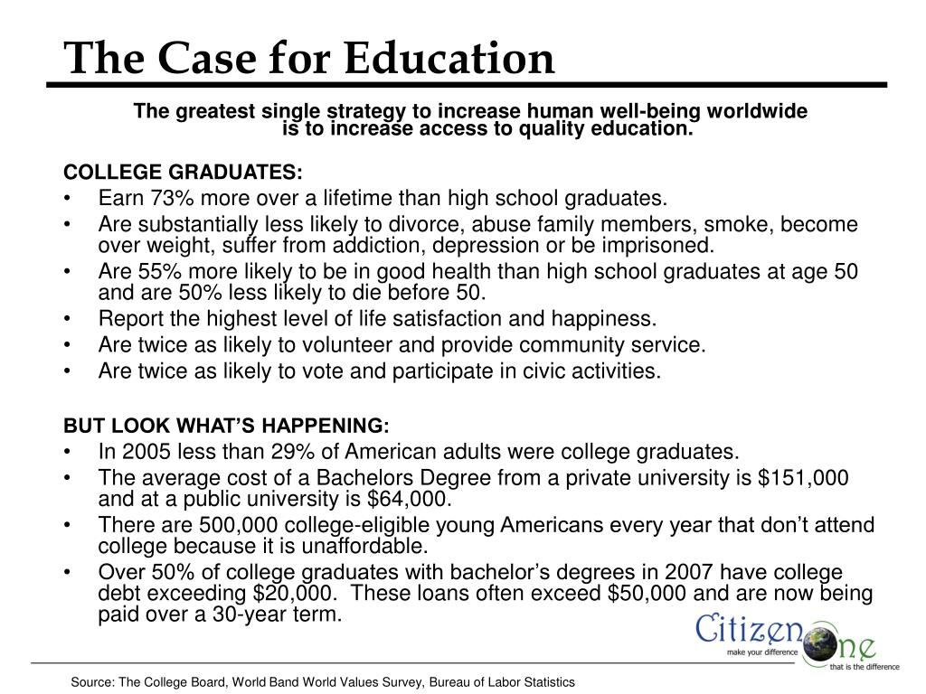 The Case for Education