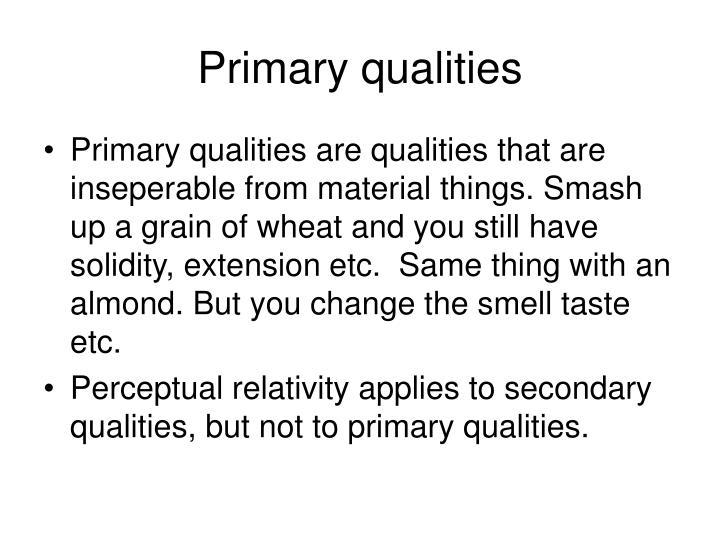 Primary qualities