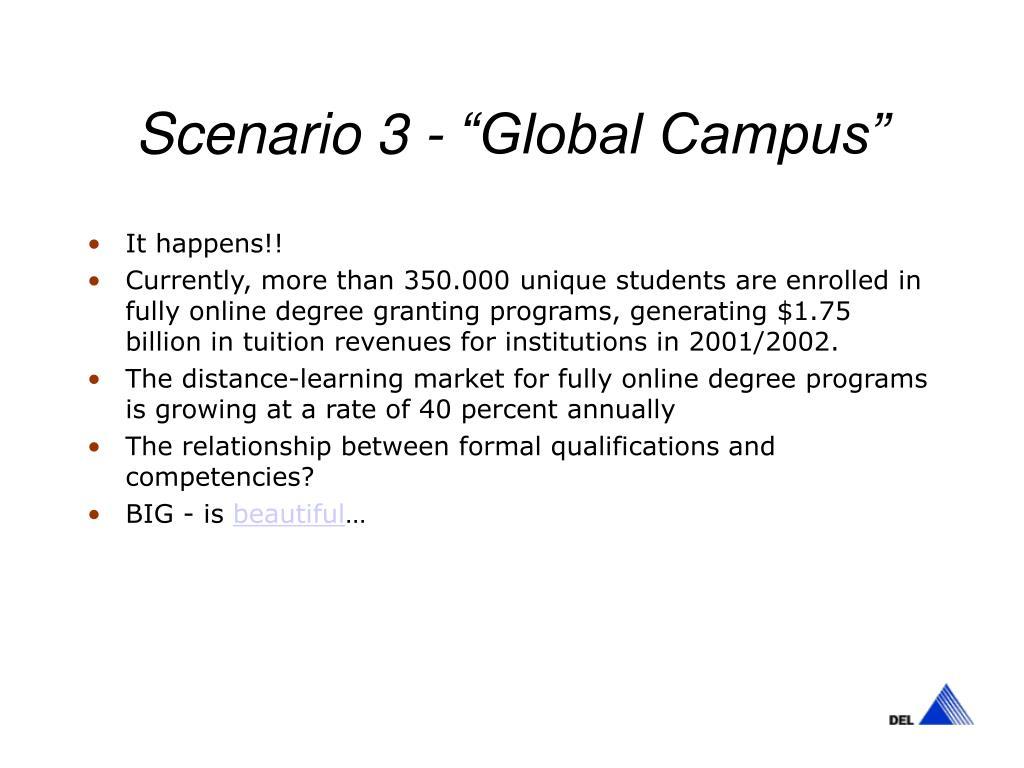 "Scenario 3 - ""Global Campus"""