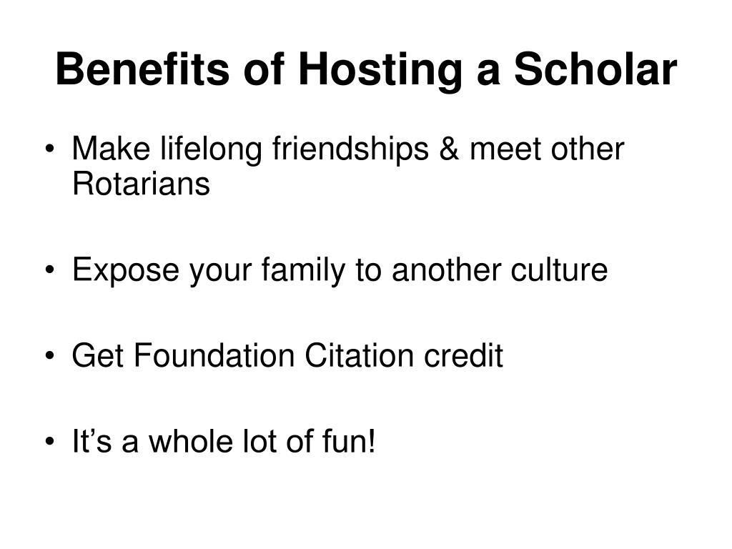 Benefits of Hosting a Scholar