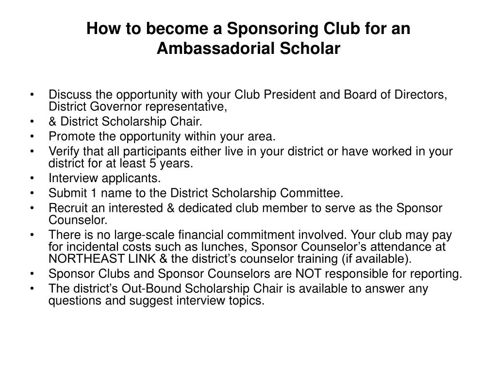 How to become a Sponsoring Club for an