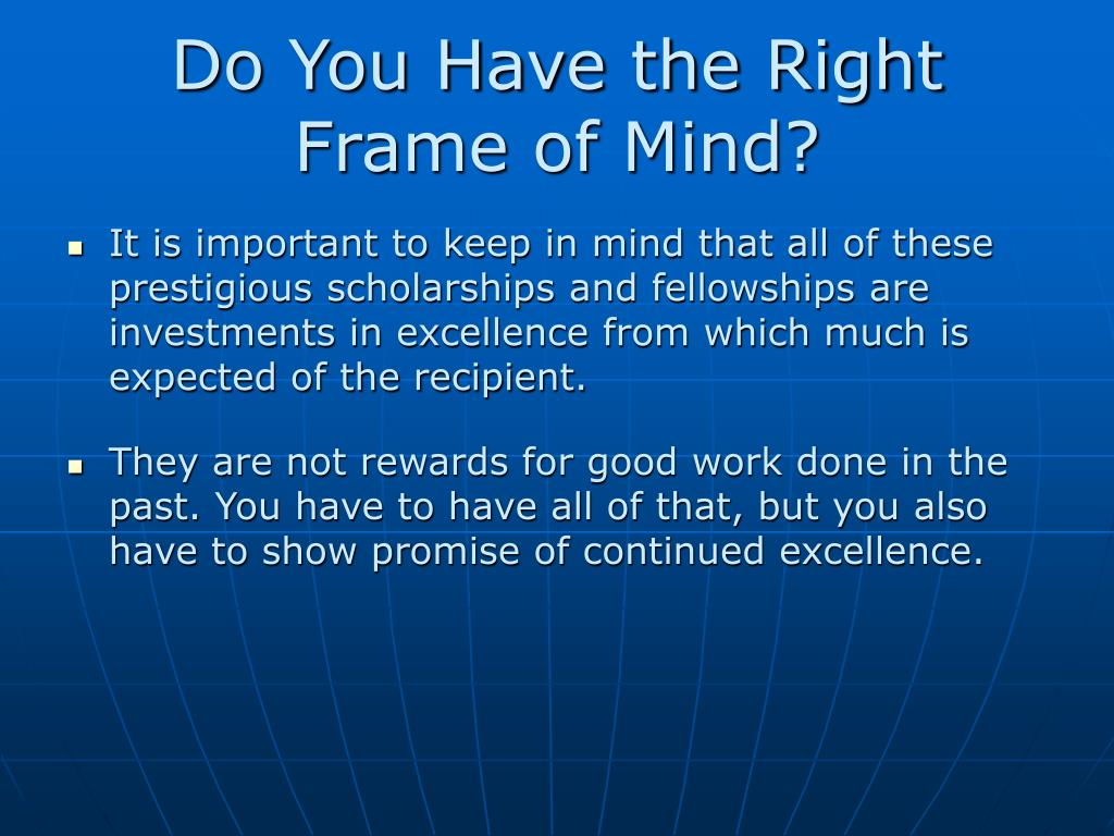 Do You Have the Right Frame of Mind?