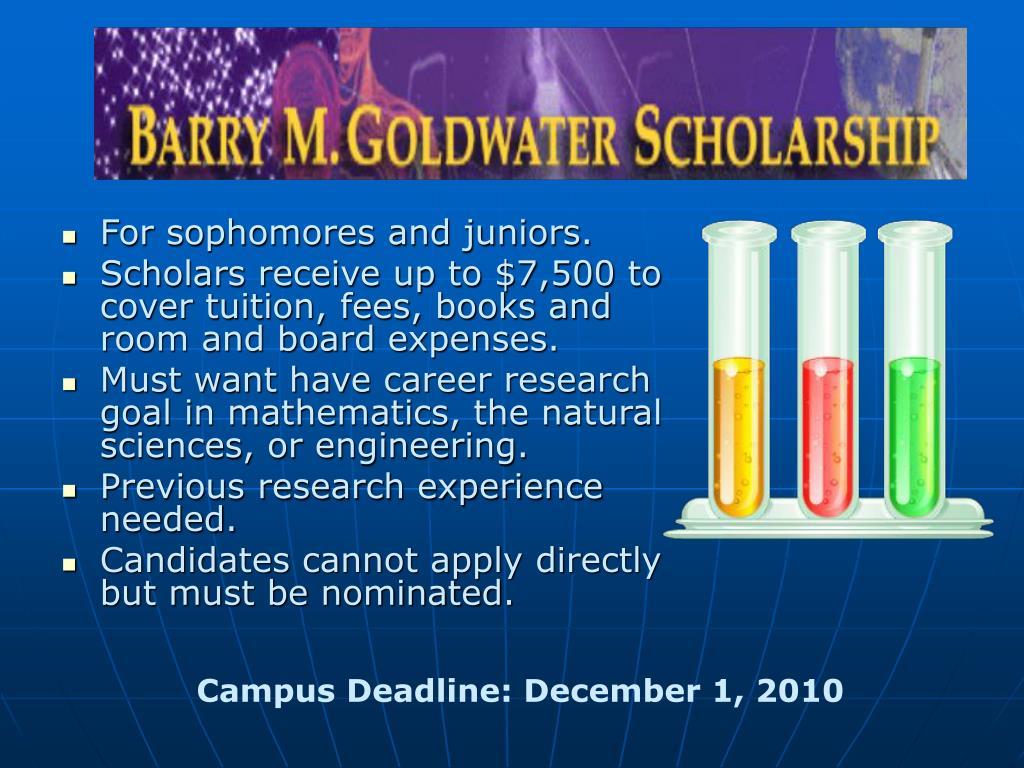 Campus Deadline: December 1, 2010