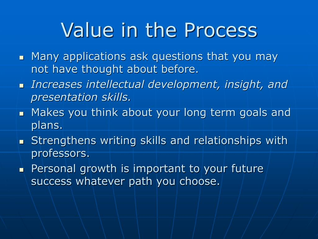 Value in the Process