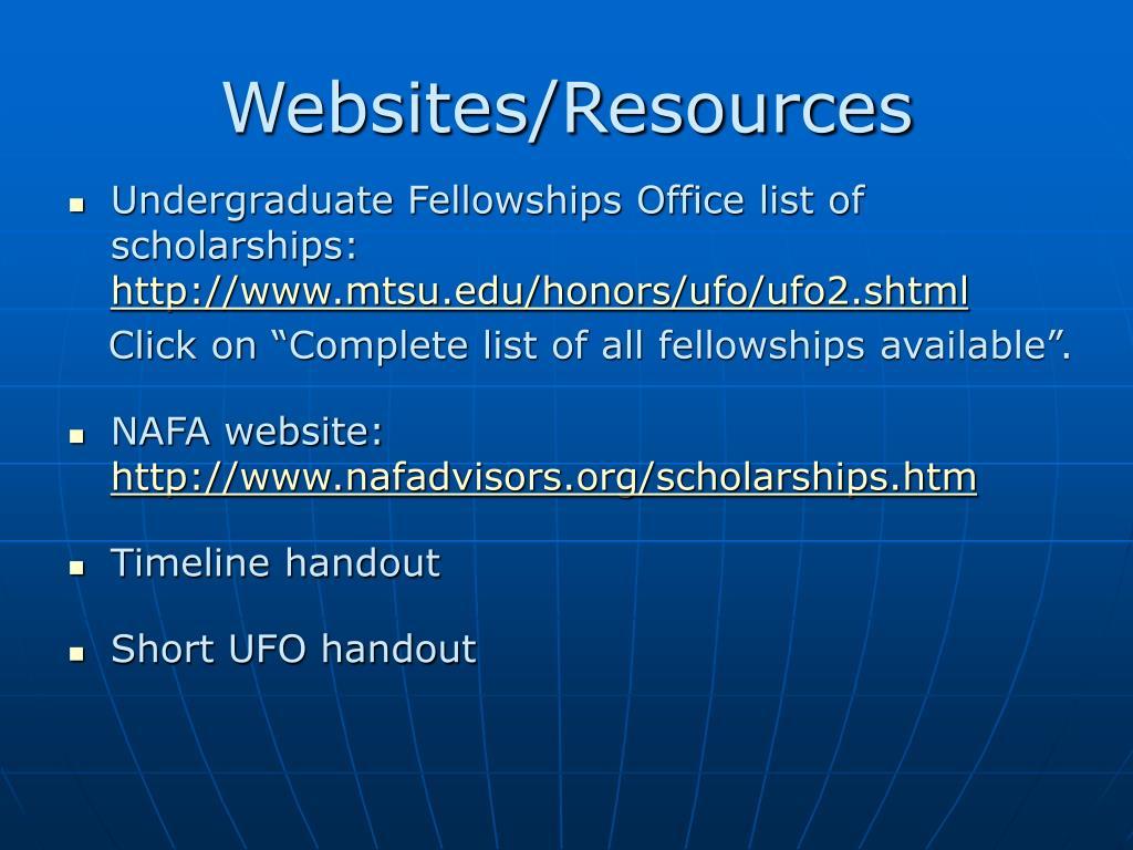 Websites/Resources