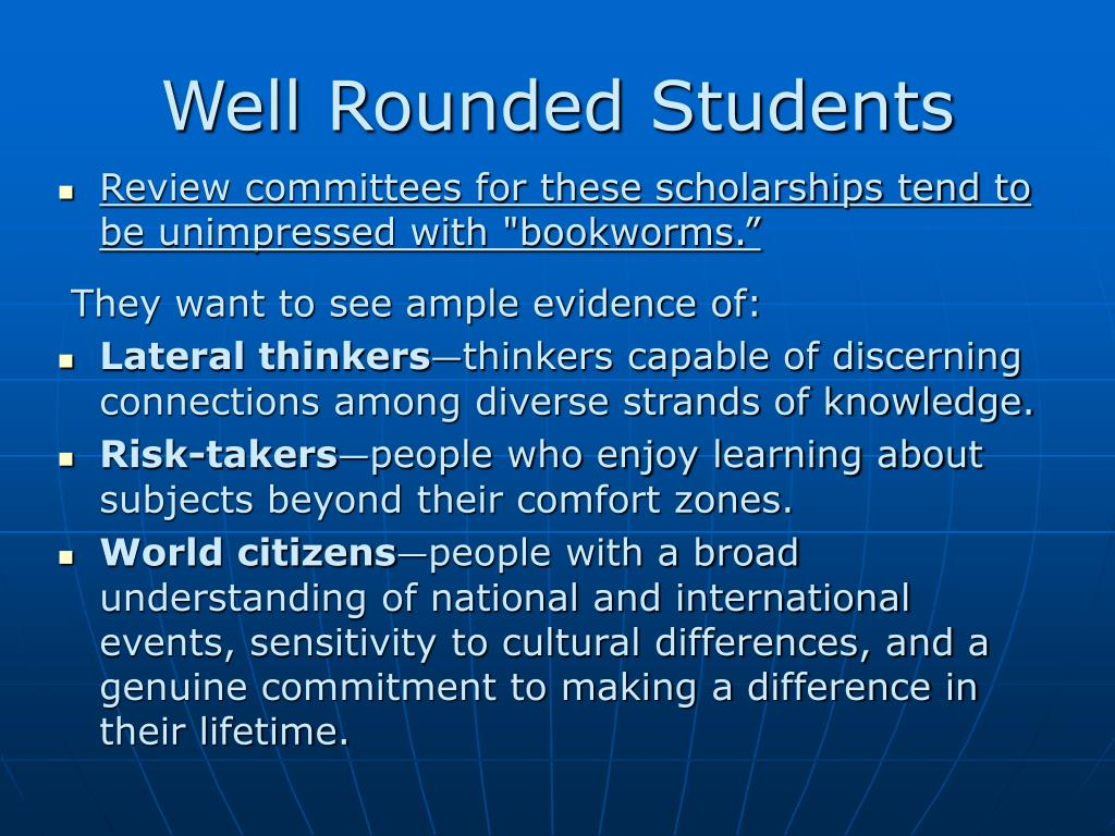Well Rounded Students