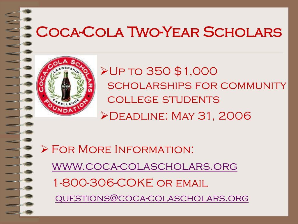 Coca-Cola Two-Year Scholars