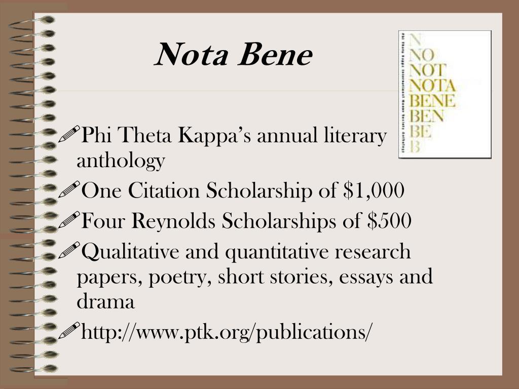 Phi Theta Kappa's annual literary anthology