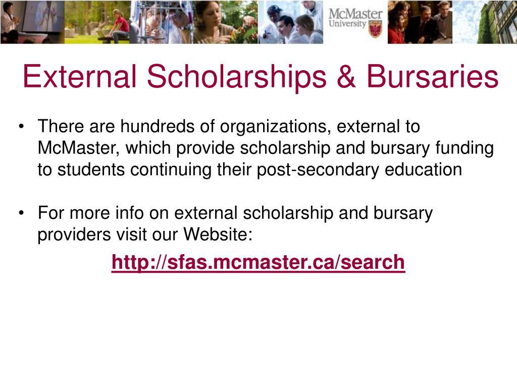 External Scholarships & Bursaries
