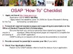 osap how to checklist
