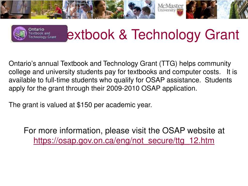 Textbook & Technology Grant