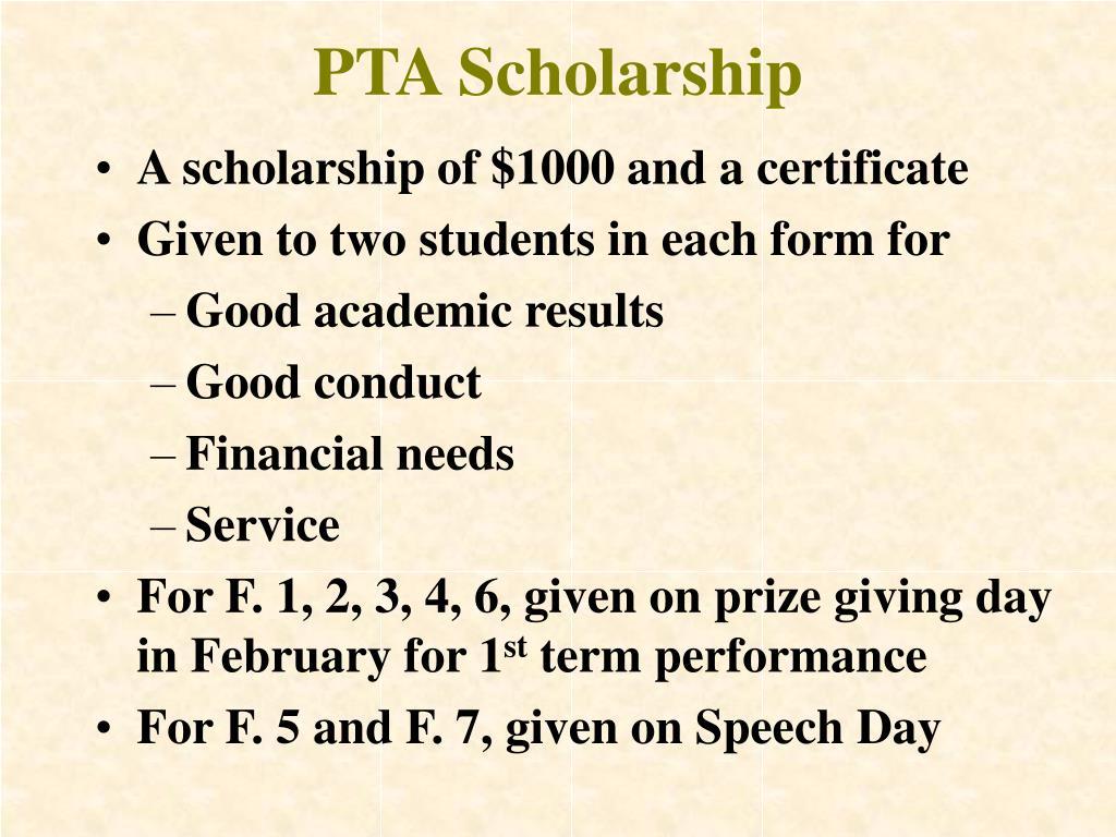 PTA Scholarship