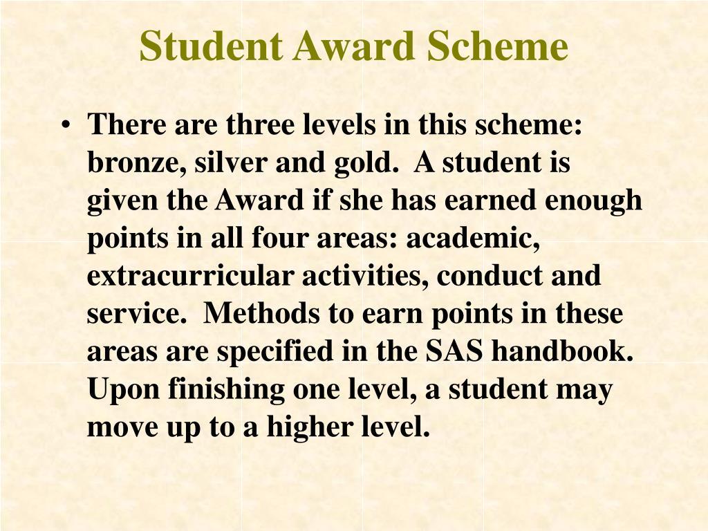 Student Award Scheme