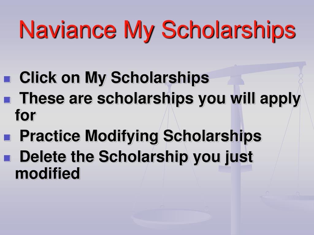 Click on My Scholarships