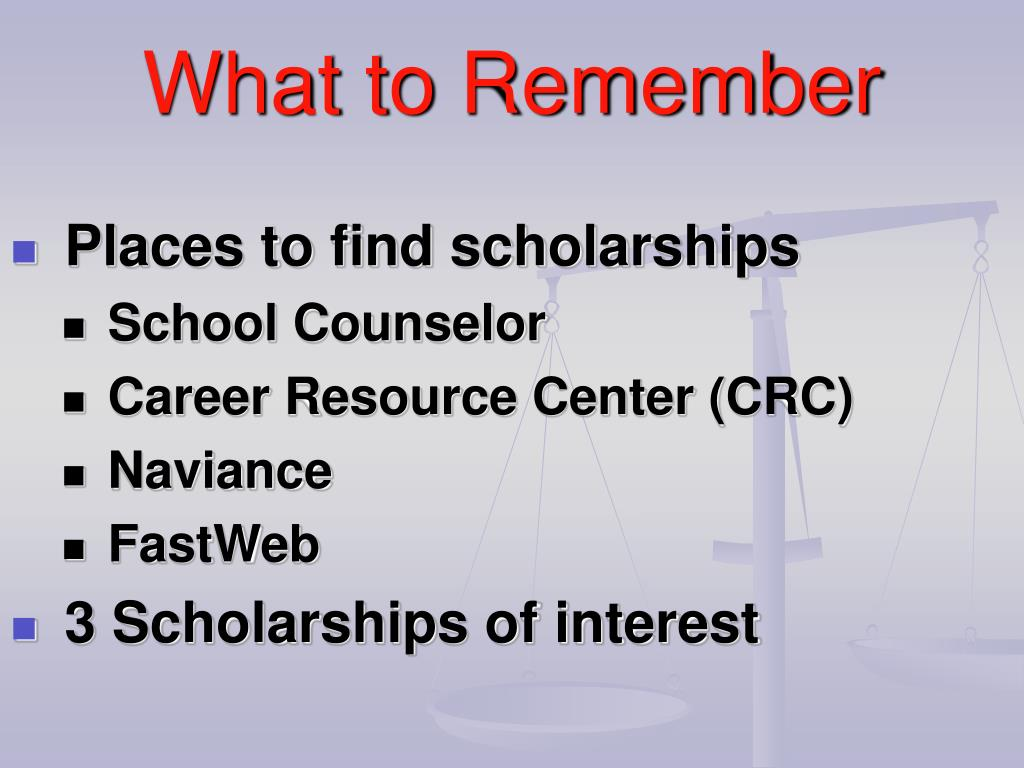 Places to find scholarships