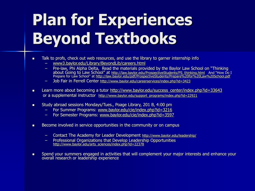 Plan for Experiences Beyond Textbooks