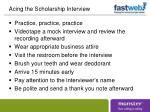 acing the scholarship interview