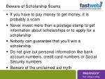 beware of scholarship scams