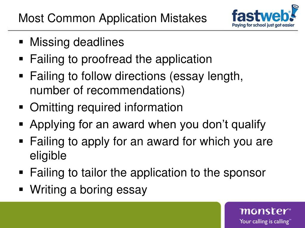 Most Common Application Mistakes