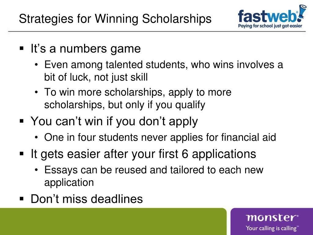 Strategies for Winning Scholarships