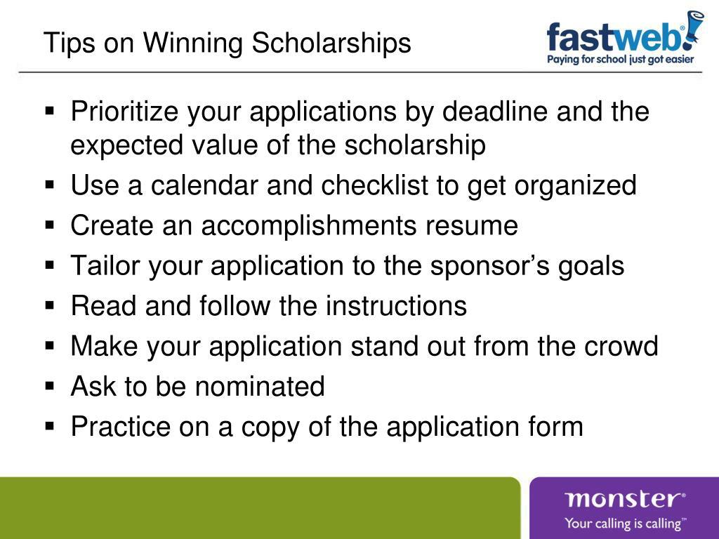 Tips on Winning Scholarships